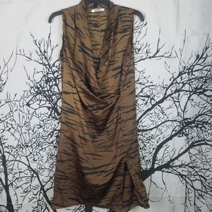 DKNYC | Brown & Black Zebra Sleeveless Dress